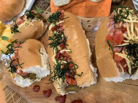 Cachorro-quente vegetariano Cheff Luiza Hoffman